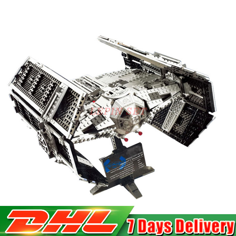 DHL 05055 Star 1242PCS Series Wars The Rogue One USC Vader TIE Advanced Fighter Set Lepin Building Block Brick Educational Toy lepin 05060 the rogue one usc naboo style fighter set 10026 star series wars 187pcs building blocks bricks educational toys