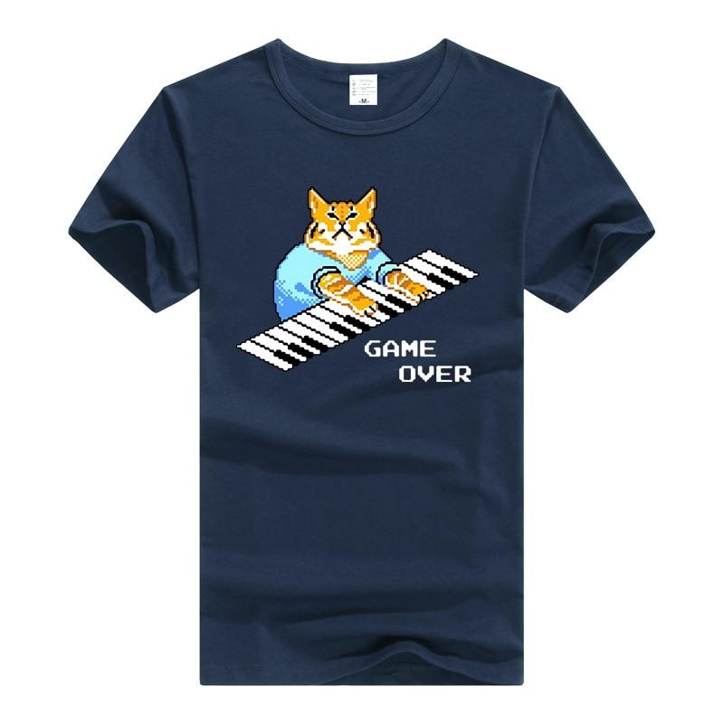 Camiseta TEEWINING teclado gato T Shirt The IT Crowd Roy camiseta hombres mujeres camiseta Streetwear Tee Piano gato juego sobre