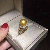 Women Gift word 925 Sterling real Permanent natural sea salt pearl ring 10.5 11 mm, natural deep choker bts