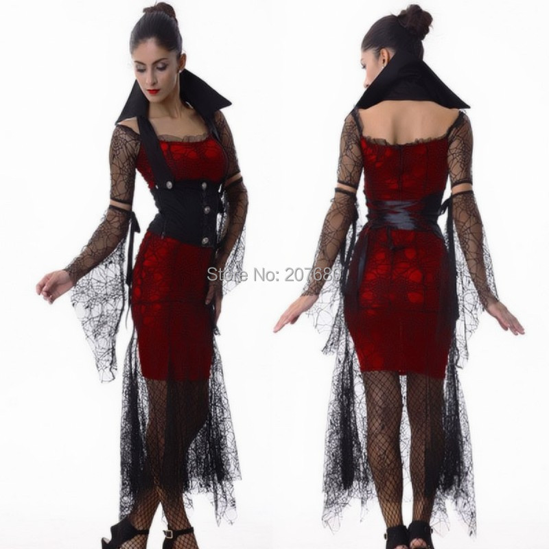 New Sexy Zombie Costume Halloween Costumes For Women Cosplay Adult Vampire  Costume Womens Fantasia Witch Queen Dress 3b80e2bd9260