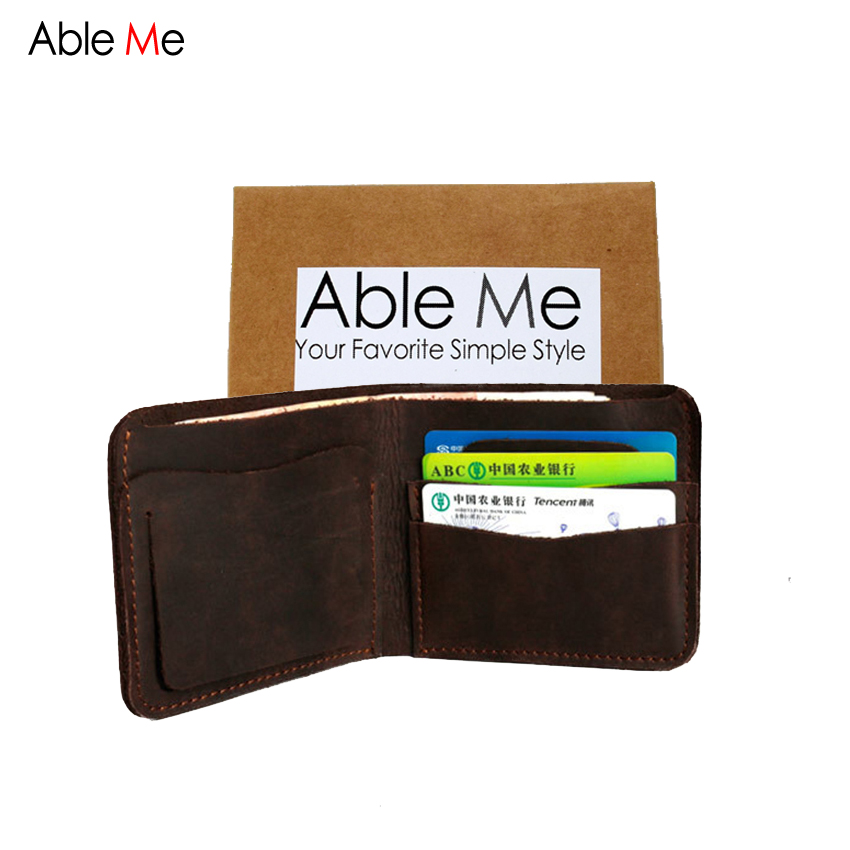 ФОТО AbleMe 2017 Brand Mens Genuine Leather Wallet Purse Male Leather Luxury Wallets Men Credit Card Holder Cutom Logo Gift Purse Bag