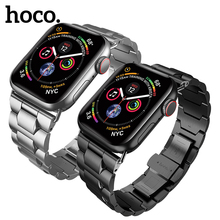 HOCO Stainless Steel Band for Apple Watch Series 1 2 3 4 Metal Butterfly Buckle Strap Link Bracelet iWatch 42/44mm 38/40mm