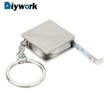 DIYWORK измерительные инструменты из нержавеющей стали Выдвижная Линейка Рулетка брелок для ключей измерительный брелок с инструментами Тяговая линейка