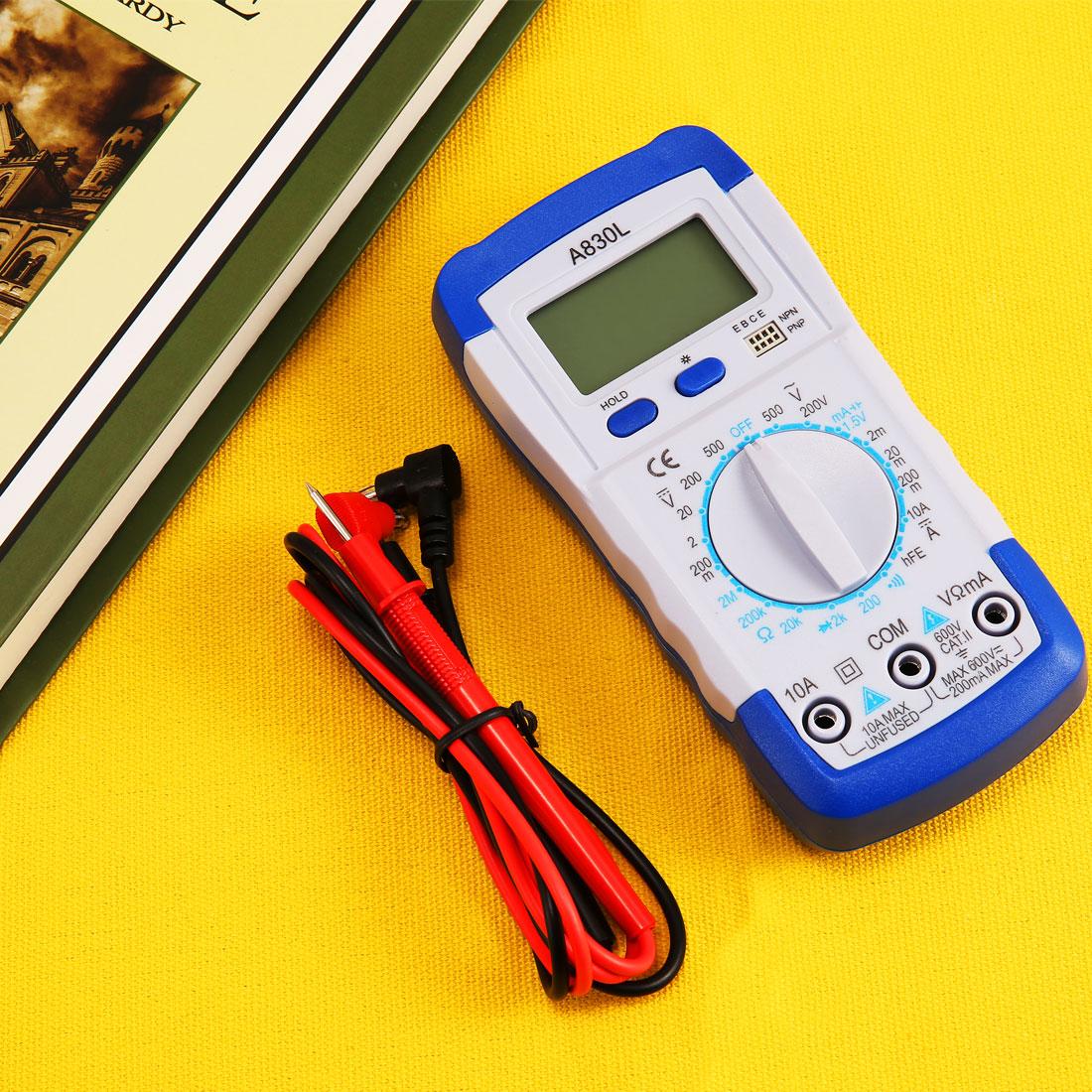 Digital LCD Multimeter Voltmeter DC AC Amperemeter Messgerät Tester inkl.Battery