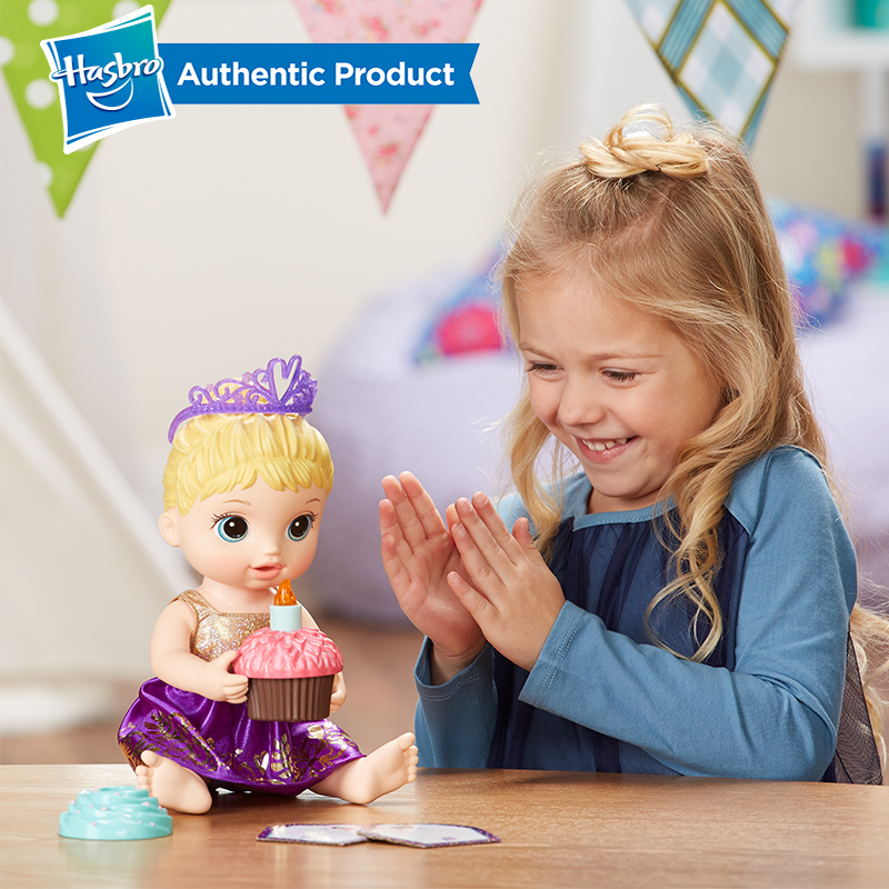 Hasbro Baby Alive Cupcake Birthday Baby Dolls Supplement Kawaii Dress Lovely Girl Child Educational Early Baby Dolls Toys in Dolls from Toys Hobbies