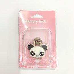 1X милый мультфильм Kawaii животные багажная сумка металлический замок журнал дневник пароль Блокировка файл держатель канцелярские принадлежности - Цвет: panda