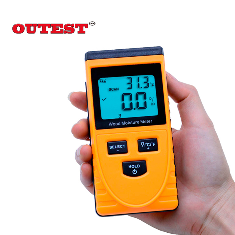 Digital LCD Display Induction Wood Moisture Meter Wood moisture content meter Wood Moisture tester 0~50% GM630 md918 digital 2 2 lcd induction wood moisture tester dark blue black 3 x aaa