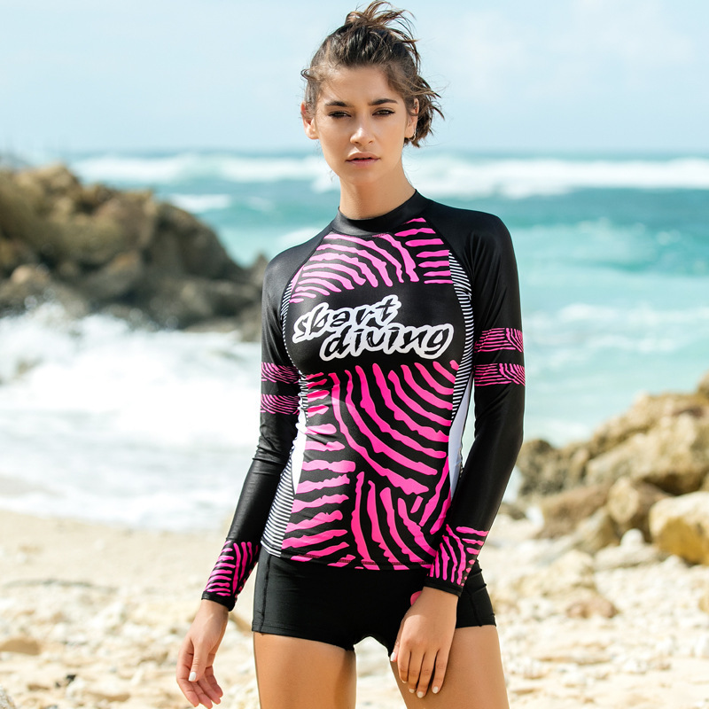 Sbart Lycra Women Diving Suits Long Sleeves Tops Female Rash Guards Snorkeling Surfing Quick drying breeches