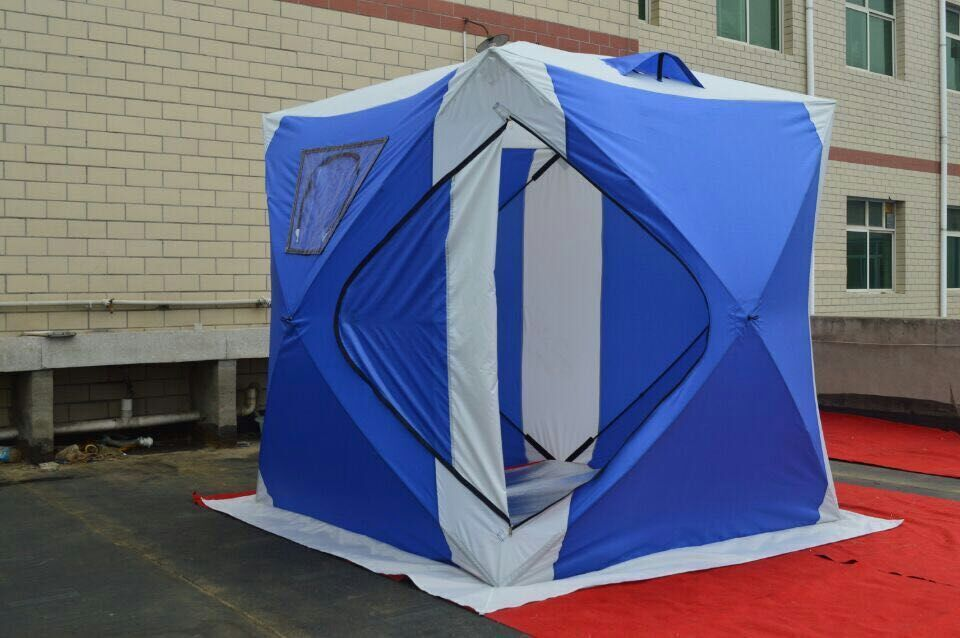 pretty nice 476f9 d270d US $196.0 |Free shipping pop up Ice tent fix cable construction ice Tents  outdoor hard working 150X150X165CM-in Tents from Sports & Entertainment on  ...