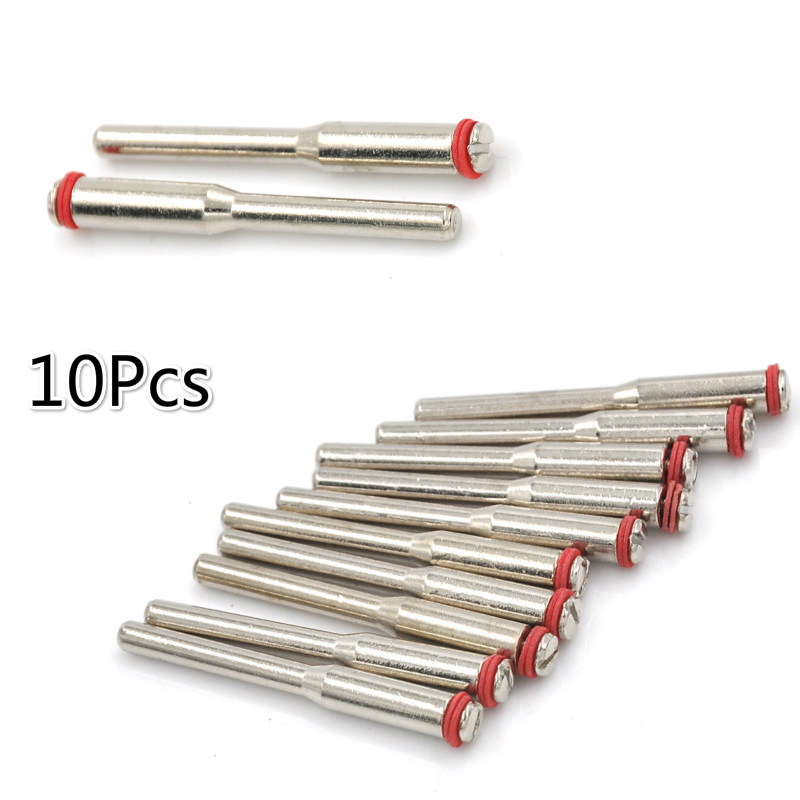 10Pc  Accessories 3.175mm Miniature Clamping Connecting Lever Polishing Wheel Mandrel Cutting Wheel Holder For Rotary Tool