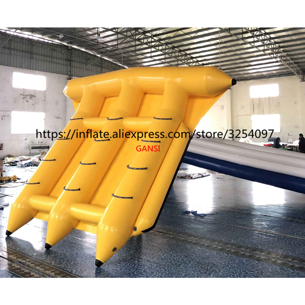 Ocean games inflatable flying towable banana boat  12 persons inflatable fly fish boat for rental|Inflatable Bouncers| |  - title=