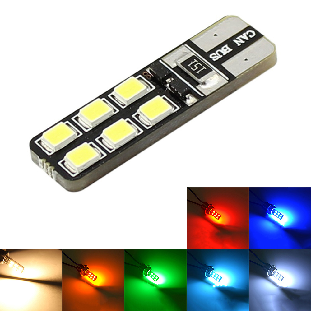 t10 w5w 194 168 canbus no error led car instrument lights dome light 12smd 2835 white orange red. Black Bedroom Furniture Sets. Home Design Ideas