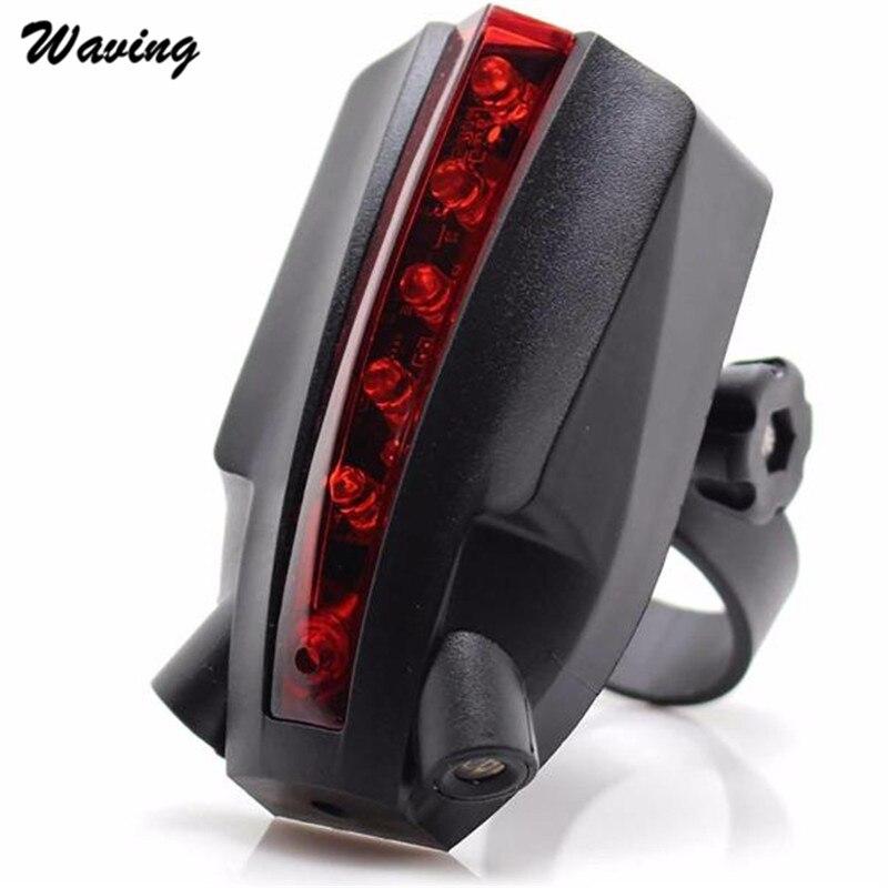 1PC Tail Light 2 Laser+5 LED 2017 New Rear Bike Bicycle Tail Light Beam Safety Warning Red Lamp Jan 24