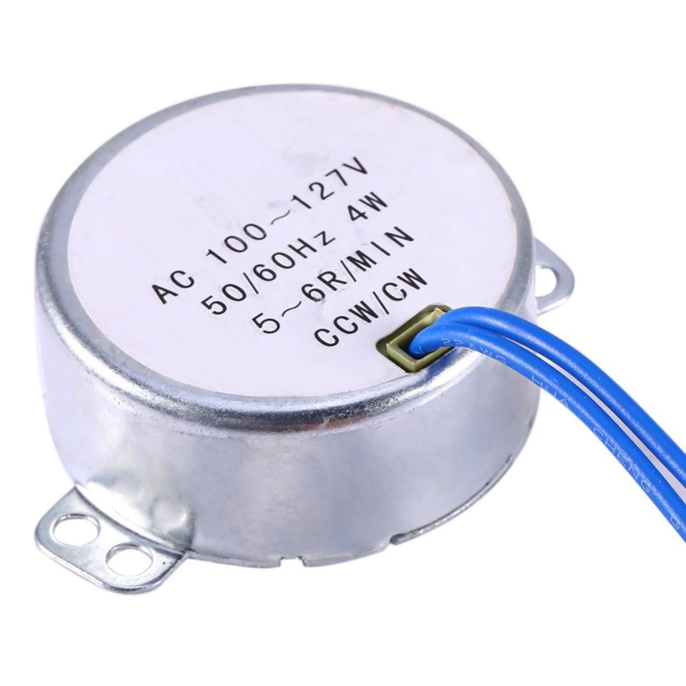0.8-1RPM Sincronizador sincr/ónico de la placa giratoria Motor 50//60Hz Frecuencia AC 220~240V Motor con engranaje CW//CCW 4W