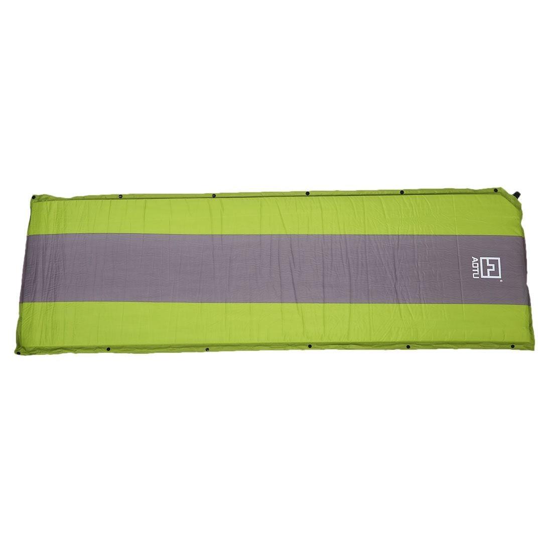 AOTU Self Inflating sponge Sleeping Mat Camping Mattress Air Bed Single  Roll Up (green)