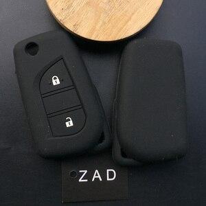 Image 3 - Silicone cover chìa khóa xe trường hợp chủ set túi Cho Peugeot 108 Lật Từ Xa Gấp 3 nút key