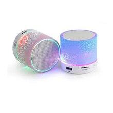 Беспроводной мини светодиодный Bluetooth колонки музыка аудио TF USB FM стерео сабвуфер с микрофоном