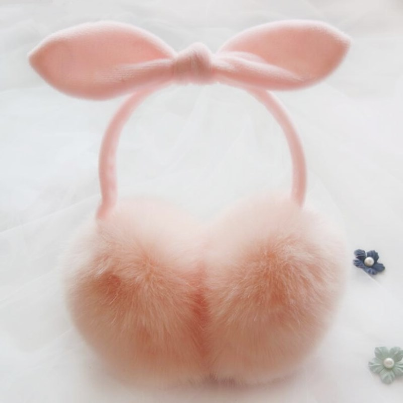 YGYEEG Fashion Winter Comfort Earmuffs Warm Earmuffs Women Girls 2018 New Lovely Rabbit Fur Adult Earmuffs Ear Cache Oreilles