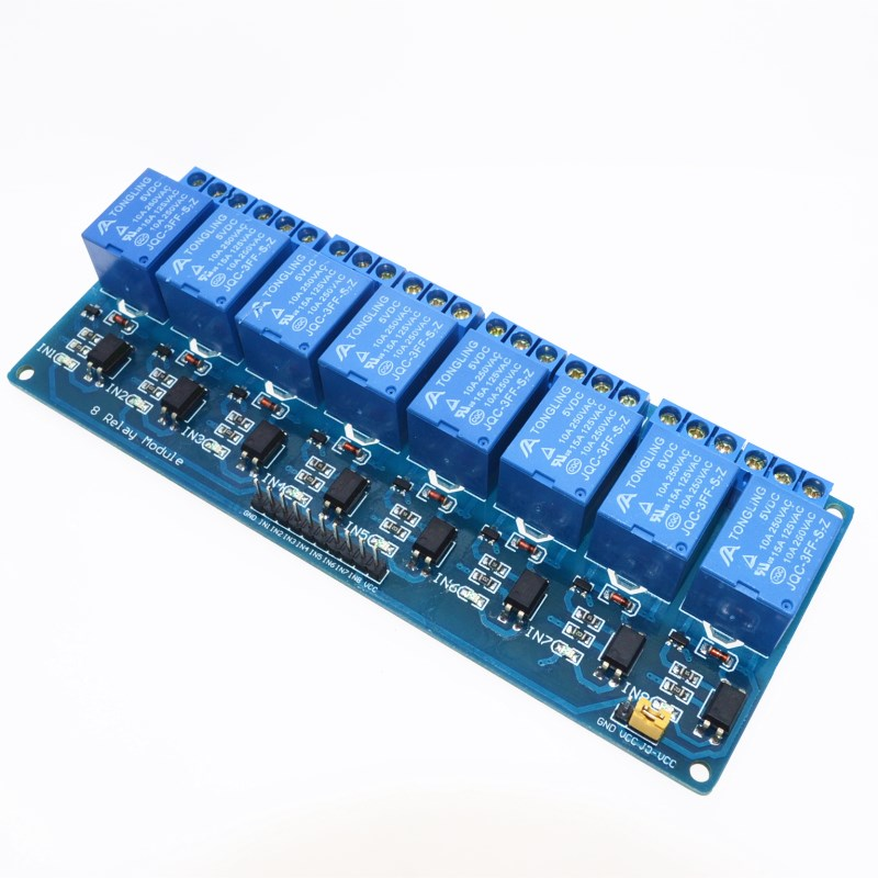 8 channel 8-channel relay control panel PLC relay 5V module for arduino hot sale in stock.8 road 5V Relay Module