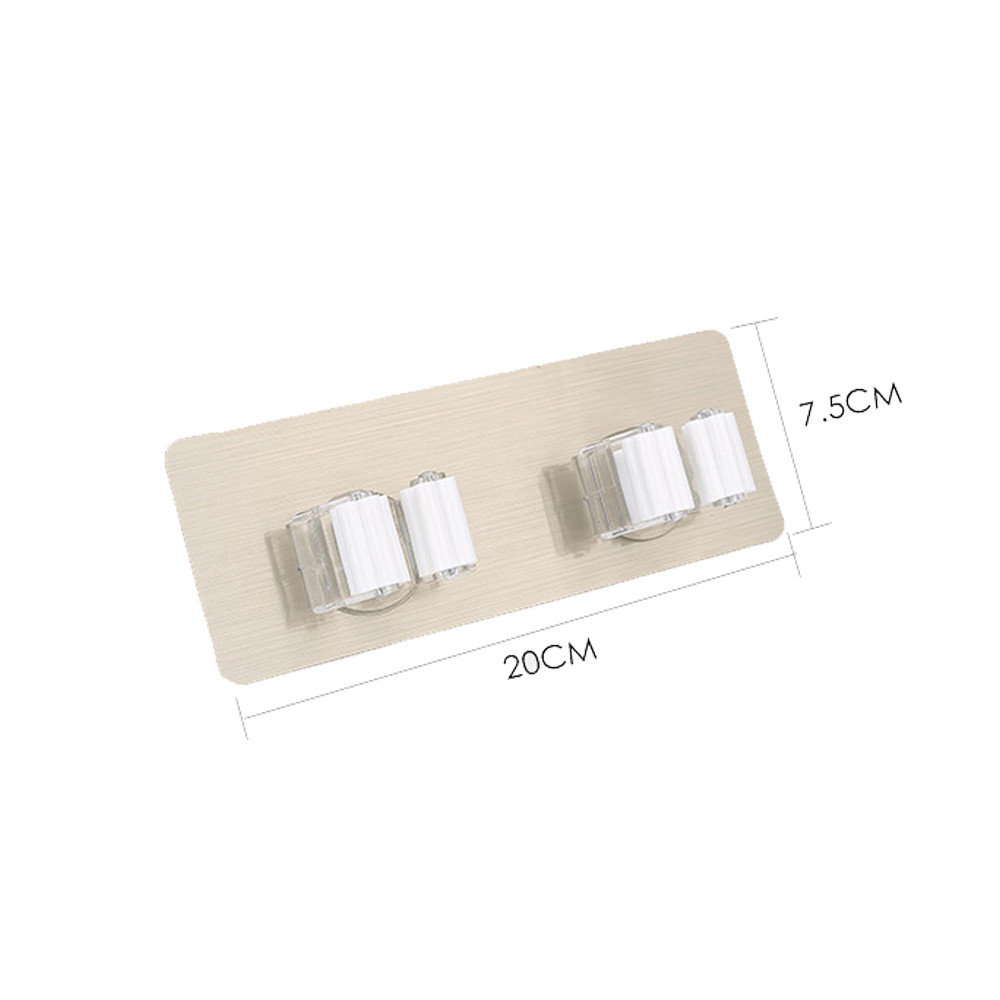 New 5 Position Kitchen Shelf Broom Holder With PVC Hanging Kitchen Storage Tool 2