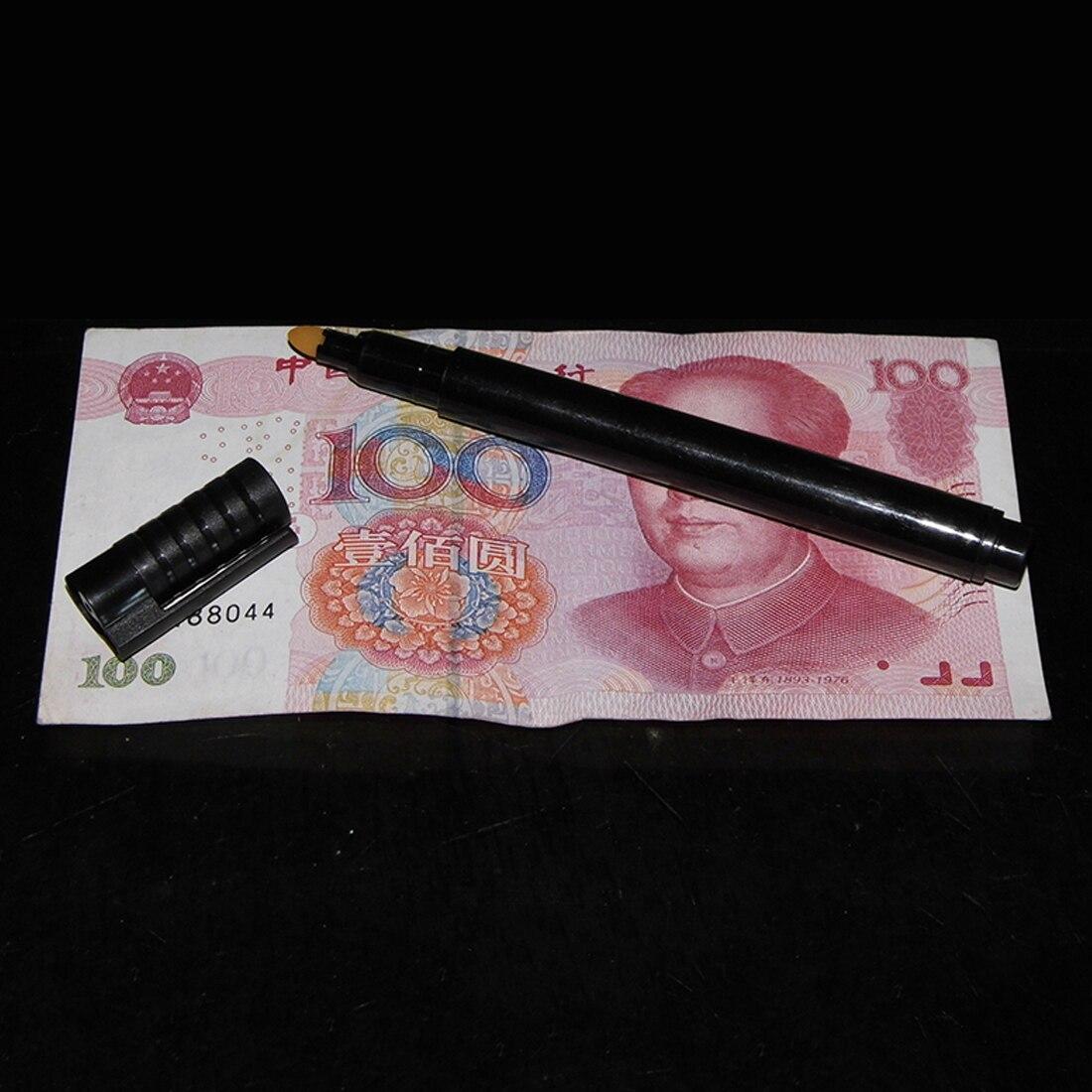 Checker Деньги Определитель фальшивости денег для проверки банкнот 2 шт./компл. поддельных маркер поддельные тестер банкнот чернила ручные инструменты для проверки