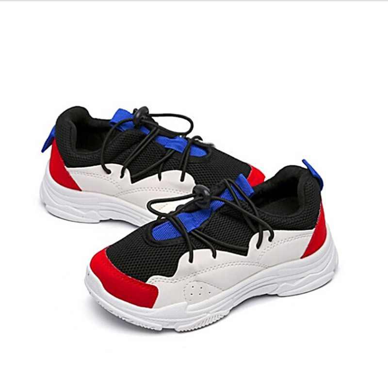 เด็กรองเท้าเด็กรองเท้าผ้าใบเด็กตาข่าย Breathable กีฬารองเท้าเด็กวัยหัดเดินรองเท้าผ้าใบกลางแจ้งรองเท้า A1