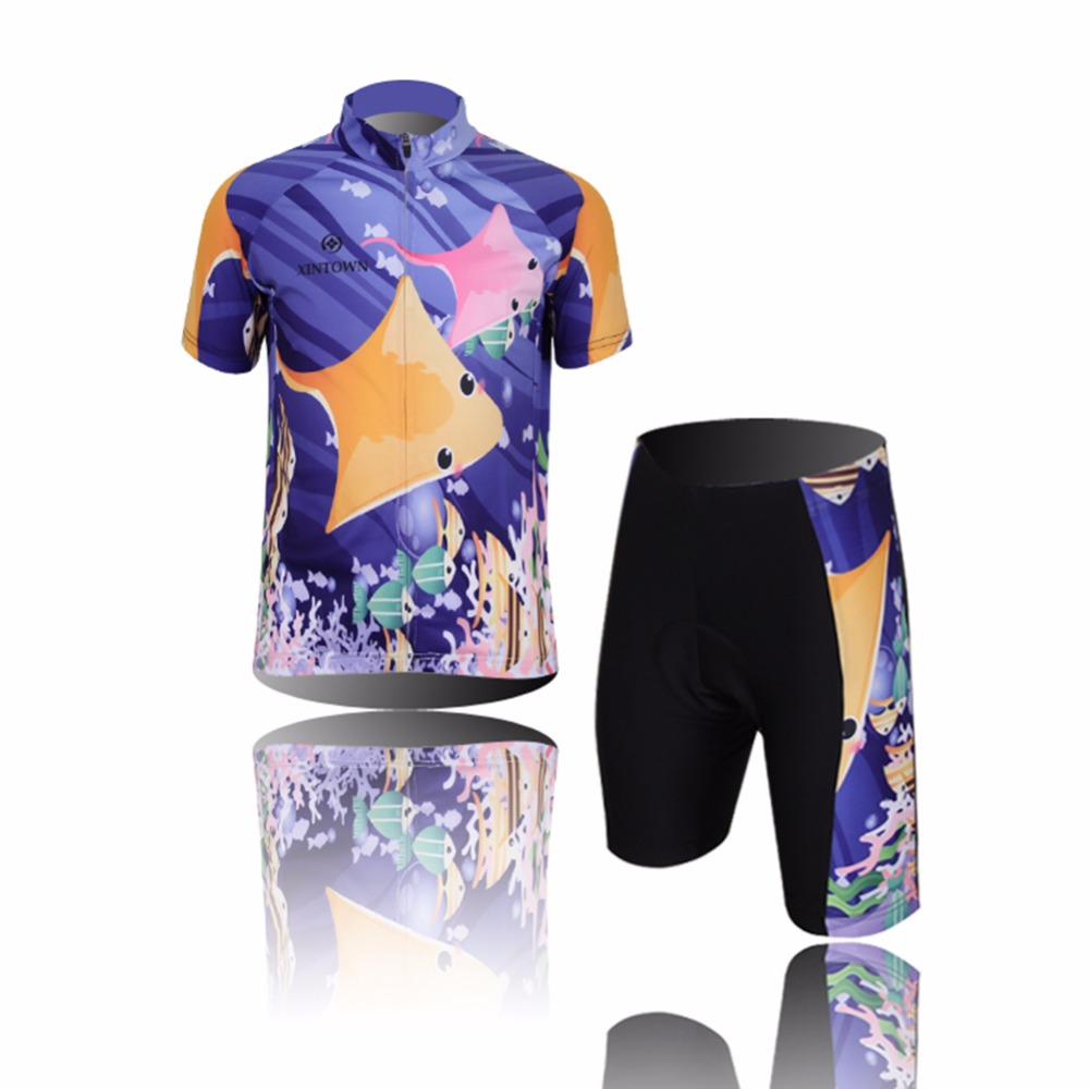 Amur Leopard Kids Cartoon Cycling Jersey Set Children Bike Suit Bicycle Ropa Ciclismo QuickDry Breathable for Boys and Girls children s bicycle kids balance bike ride on toys for kids four wheels child bicycle carbon steel bike for children 1 2 years