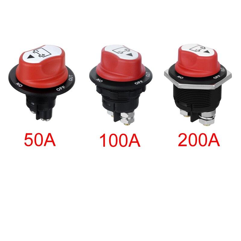 Jtron 50A 100A 200A isolateur de batterie coupé hors Kit interrupteur de course de voiture interrupteur de rallye pour moto/voiture/boart