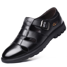 Boy Sandals Men Summer Outdoor Comfortable Shoes Beach Casual Flat Sport Male Walking Water Breathable Leather Shoes DB0191 недорого