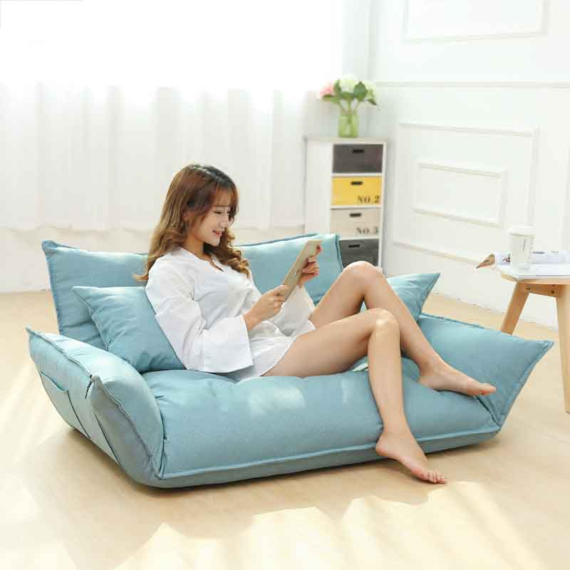 US $218.64 20% OFF|Bread Lazy Couch Japanese Style Multi functional Small  Apartment Folding Floor Sofa Bed Double Tatami Bean Bag Lounge Chair-in ...
