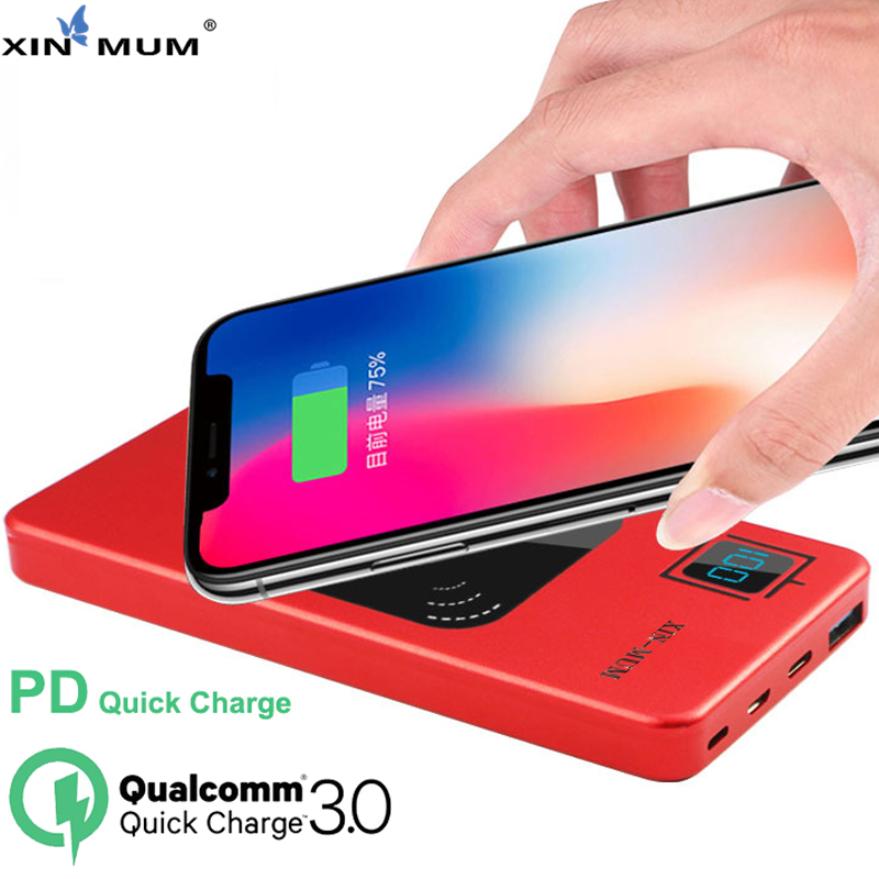 XIN-MUM 10000mAh Wireless Power Bank PD Quick Charger for iPhone X XS XR MAX QC3.0 Fast Charger Battery for All Mobile PhonesXIN-MUM 10000mAh Wireless Power Bank PD Quick Charger for iPhone X XS XR MAX QC3.0 Fast Charger Battery for All Mobile Phones