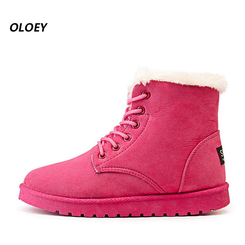 Winter women boot Shoes Women Rain Boots Female Warm Winter Shoes Ankle Boots for Women Cotton Waterproof Snow boot 2017 The New new 2017 hats for women mix color cotton unisex men winter women fashion hip hop knitted warm hat female beanies cap6a03