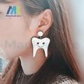 Dental presente Exagerada grande engraçado novo dente Brinco pendente Moda Pingente charme Dangle presente Enfermeira para a clínica do Wome