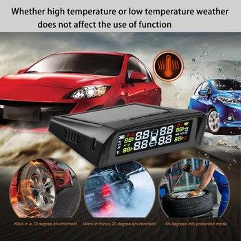 Lastik Basıncı İzleme Sistemi Lcd Araç Lastik İzleme TPMS Lastik Basınç Alarmı Anti-patlama Dayanıklı Araba Aksesuarları
