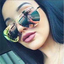 Женские солнцезащитные очки pilot из розового золота с розовым покрытием, брендовые дизайнерские зеркальные солнцезащитные очки, женские модные очки lunette femme