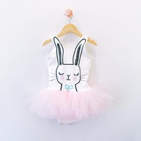 Baby Girl Romper Little Baby Girl Cute Rabbit Toddler Romper Gauze With Voile Dress 2018 Baby