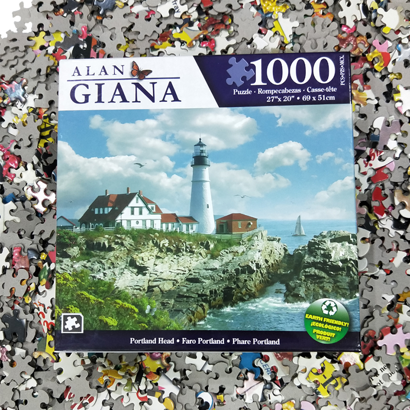 "J.Charles 1000 Pieces Jigsaw 27"" X 20"" Animal & Landscape Frame Paper Puzzle Toys For Kids/Young/Adult Assembly Pieces Together"