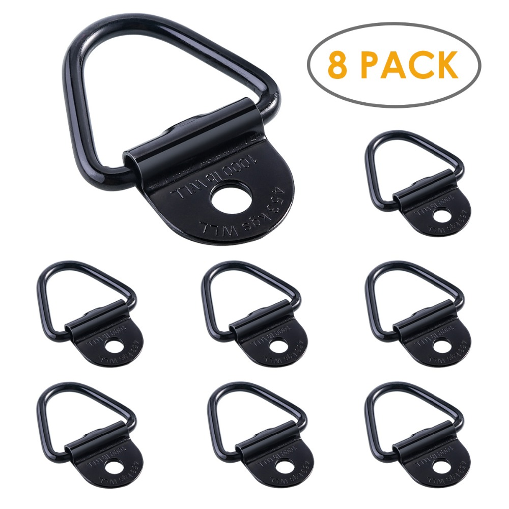 8Pcs Cargo Tie-Down Anchors V-Ring Trailer Anchor Replacement For Truck Bed And Back Door Freight Car Trailers SUV Warehouses