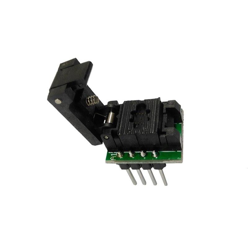 QFN8 DFN8 WSON8 Programming Socket Pogo Pin Probe Pin Pitch 0 65mm IC Body Size 3x3mm