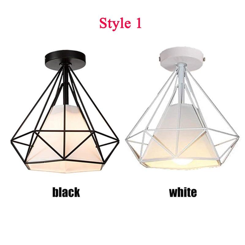 HTB1rVOPX21H3KVjSZFHq6zKppXa1 20cm Vintage Industrial Rustic Flush Mount Ceiling Light Black / White Metal Lamp Fixture Nordic Style Creative Retro Light Lamp