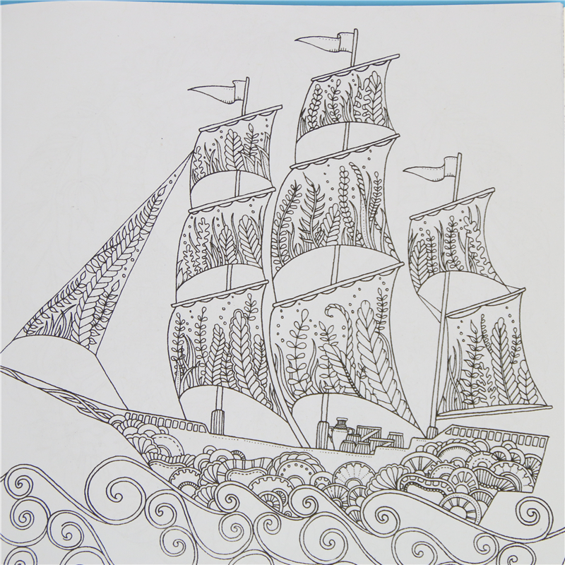 Lost Ocean Inky Adventure Coloring Book For Children And Adult