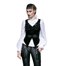PUNK RAVE Gothic Womens Black Red Vintage Jacket Coat Steampunk Palace Style Embroidery Flower Swallowtail Short Coats