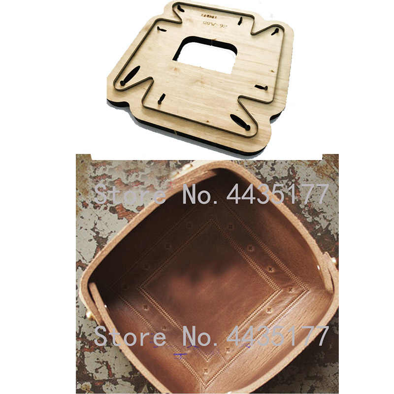 Japan Steel Blade Wooden dies DIY leather craft tray Leather plate die cut knife mould Sewing Accessories Leathercraft tool set