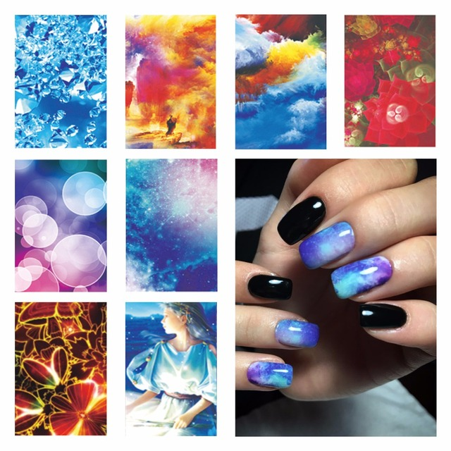 ZKO 1 Sheet Optional Water Transfer Nail Art Stickers Decals For Nail Tips Decoration DIY Fashion Nail Art Accessories