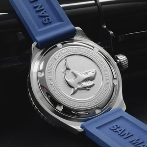 Image 5 - San Martin Mechanical Watch Fashion Men Automatic Stainless Steel Diving Watches Luminous Rubber Wristband 200 Meters Waterproof