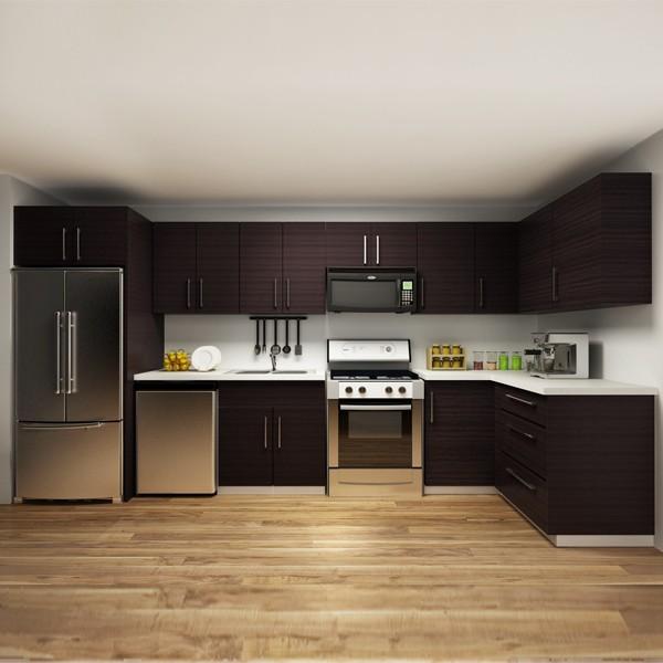 2014 América proyecto gabinetes de cocina de melamina madera Muebles ...