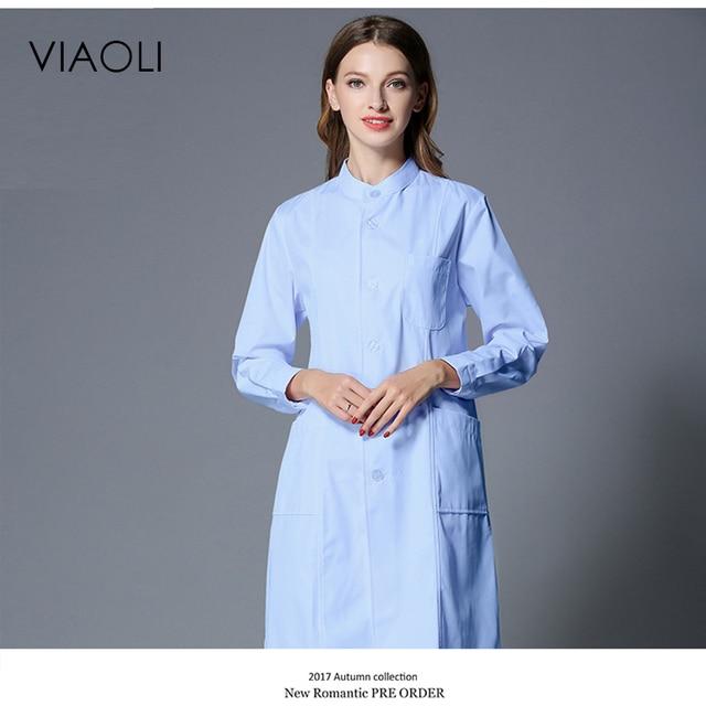 fb1fdaad6 Viaoli بيغيني الأبيض قصيرة الأكمام معطف للمختبر الأطباء جراح عالم الزي  فستان بتصميم حالم زي سترة