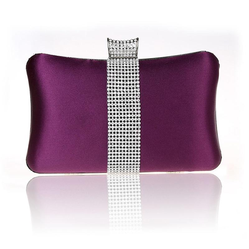 ФОТО Purple Evening Cluth Diamond sparkle Silk Ladies Wedding Party Bag Dress Package Hard Phone Nightclubs Clutch Noite Handy Bag