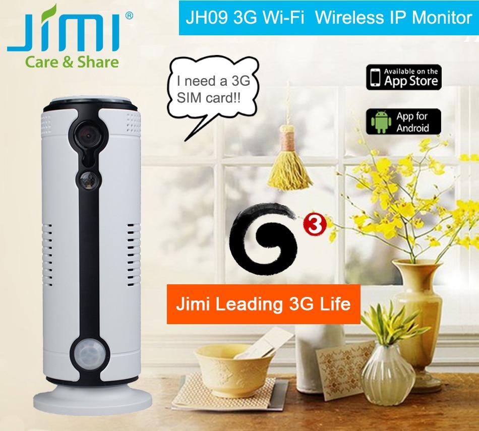 Jimi JH09 720P Wireless Home Security IP Camera WiFi/3G IR-Cut Night Vision Camera Surveillance Camera Indoor Baby Monitor