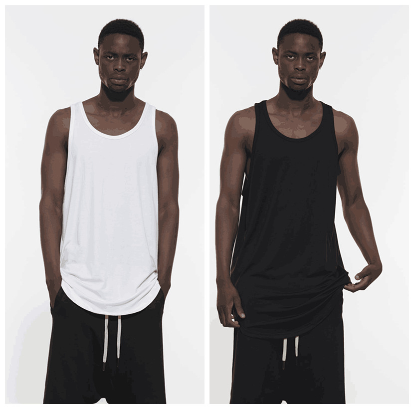 QoolXCWear Loose Hip hop men   tank     top   Mercerized cotton Bottoming vest   tank     tops   Casual clothing